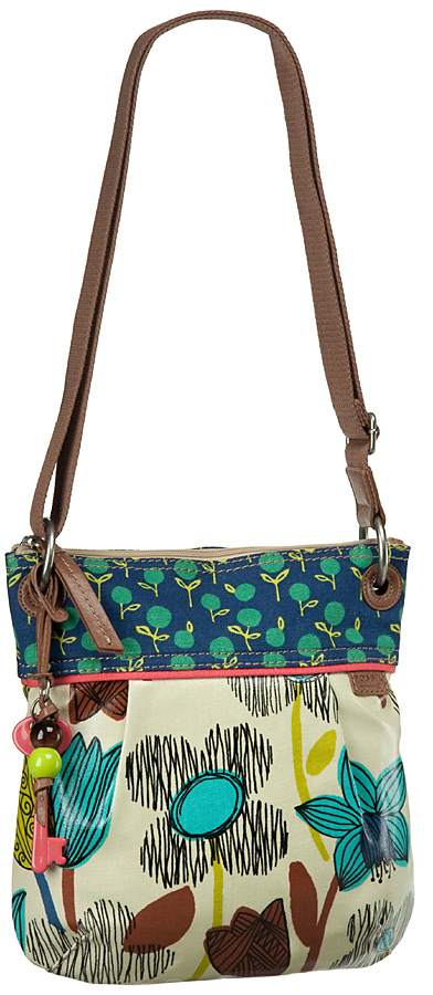 Fossil Key-Per Crossbody Canvas Umhängetasche
